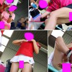 【動画】テニス少女が豪快に目の前で可愛いふとももにクリームを塗る・・・【特典有】